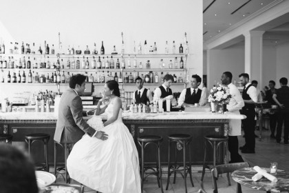 Yes, this was shot inside Bottega Louie, which is located across LAAC! Love!